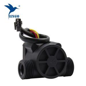 Črne črpalke senzorja za pretok vode iz materiala PP